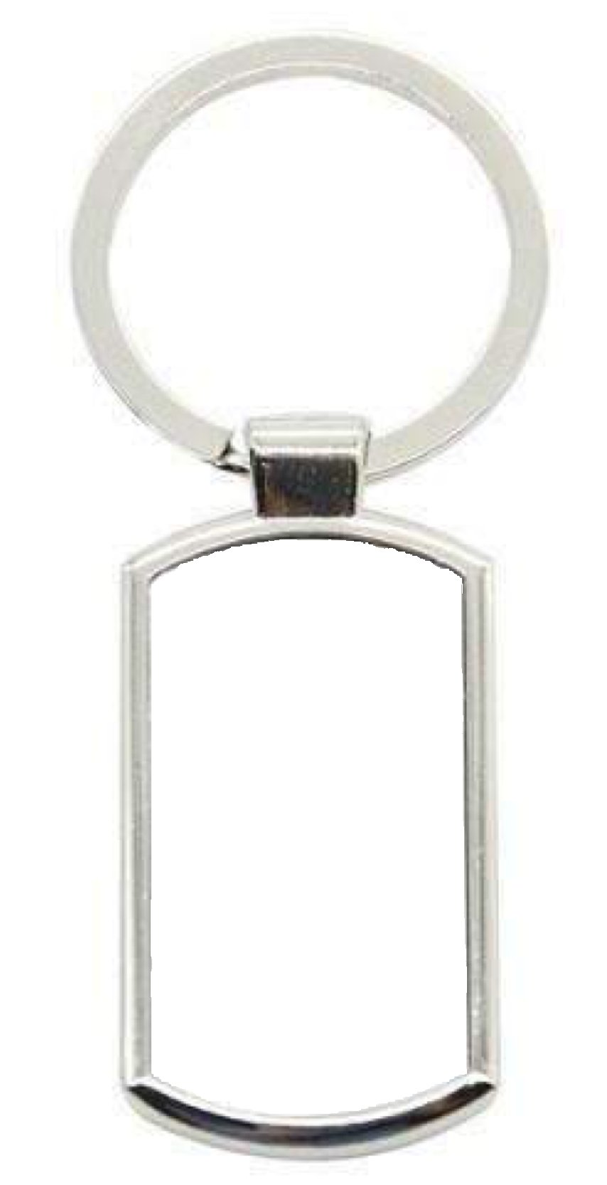 Oblong Metal Personalised keyring - Don't take it personal