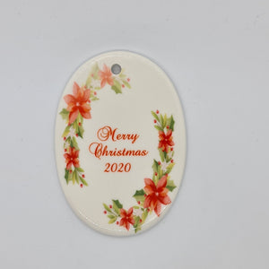 Personalised ceramic ornament - Oval - Don't take it personal