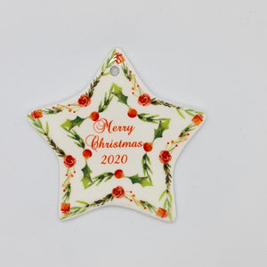 Personalised ceramic ornament - Star - Don't take it personal