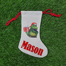 Load image into Gallery viewer, Personalised Dinosaur stocking - Don't take it personal