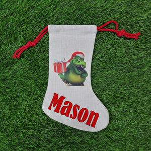 Personalised Dinosaur stocking - Don't take it personal