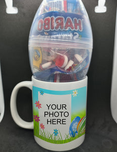 Personalised Easter mug with Egg and sweets - Don't take it personal