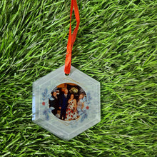 Load image into Gallery viewer, Personalised Hexagonal Glass Decoration - Don't take it personal