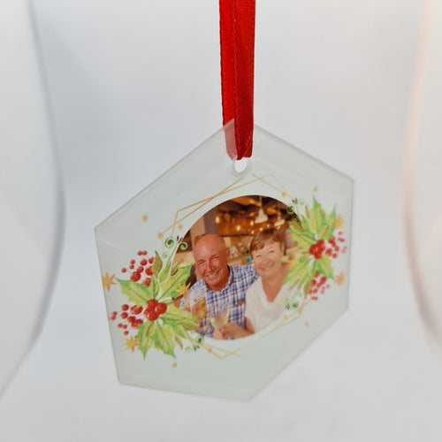 Personalised Hexagonal Glass Decoration - Don't take it personal