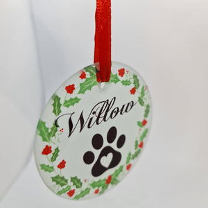 Personalised pet name Round Glass Decoration - Don't take it personal
