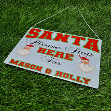 Load image into Gallery viewer, Personalised santa stop metal sign - Don't take it personal