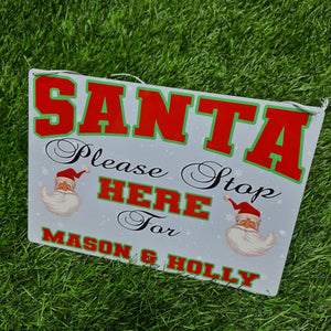 Personalised santa stop metal sign - Don't take it personal