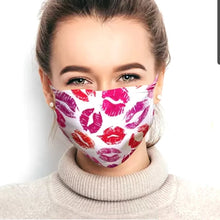Load image into Gallery viewer, Pink knitted pattern Face Covering - Don't take it personal