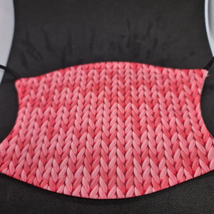 Pink knitted pattern Face Covering - Don't take it personal