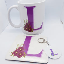 Load image into Gallery viewer, Purple floral Monogram Gift set - Don't take it personal
