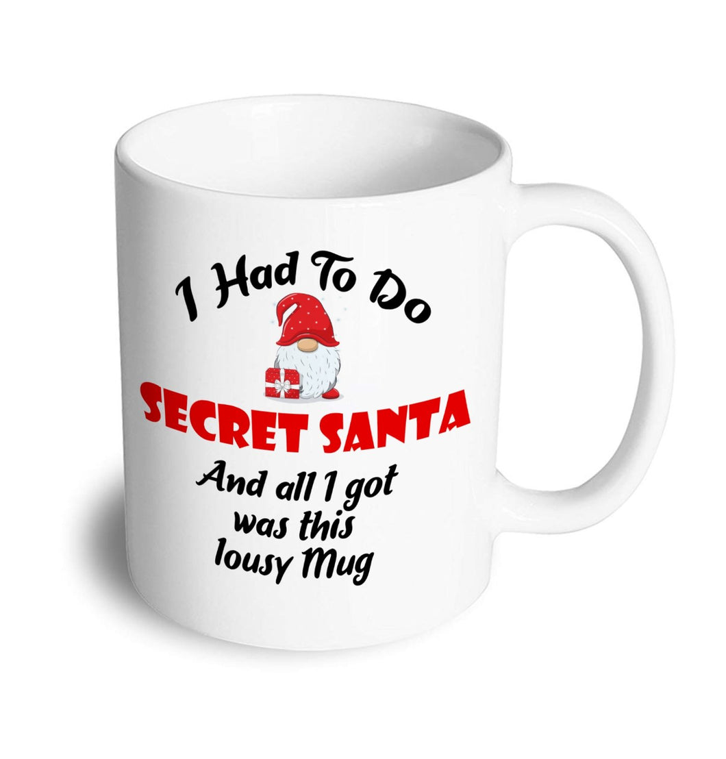 Secret Santa Christmas Mug - Don't take it personal