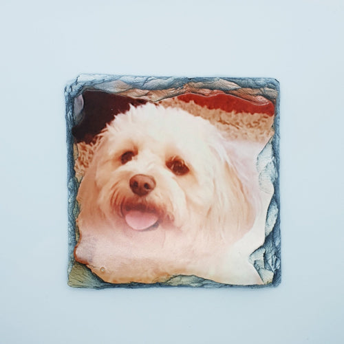 Slate Photo coasters - Don't take it personal