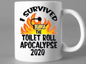 Toilet roll apocalypse mug - Don't take it personal
