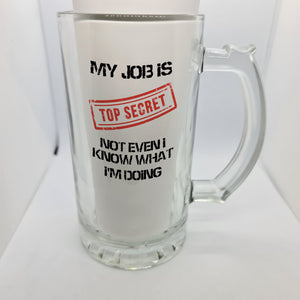Top Secret Beer Glass - Don't take it personal