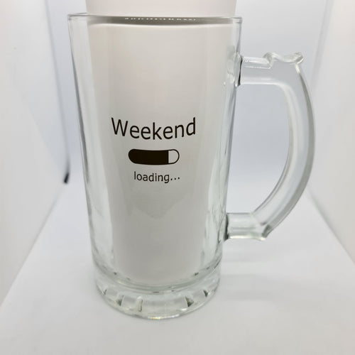 Weekend Beer Glass - Don't take it personal