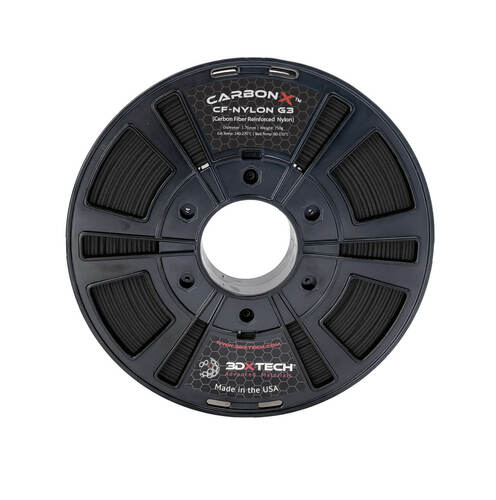 3DX Tech Carbonx PETG Filament 1.75mm 0.75kg Black