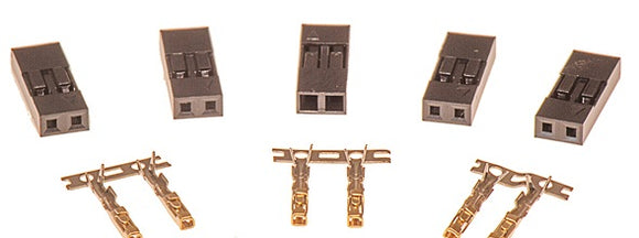 2-Way SIL connectors with pins