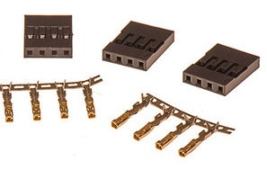 4-Way SIL connectors with pins