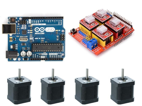 3 Axis Arduino Starter Kit With 4 Stepper Motors - Gadgitech Trading