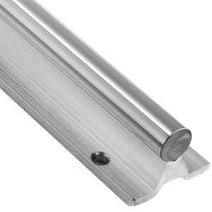 SBR12 x 1m Supported Chromed Linear Steel Rod