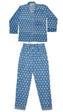 Load image into Gallery viewer, Bella Hand-Printed Indian Cotton PJs