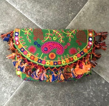 Load image into Gallery viewer, Boho Embroidered Tassel Clutch