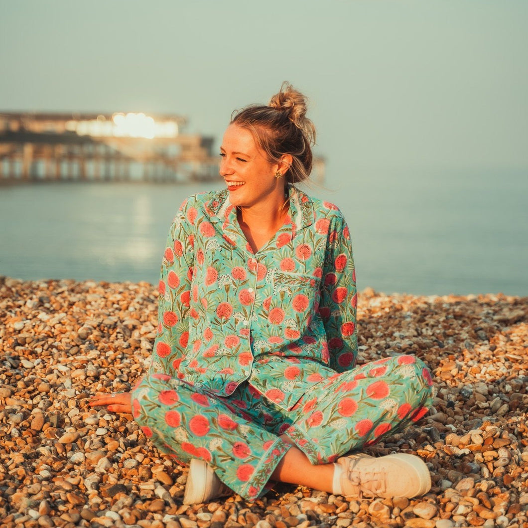 Grace Hand-Printed Indian Cotton Pjs
