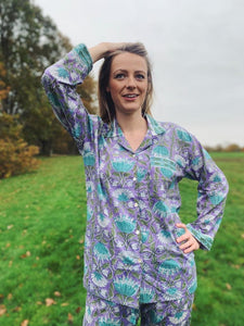 Lucy  Hand Printed Indian Cotton Pyjamas