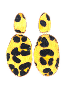 Statement Leopard Print Earrings