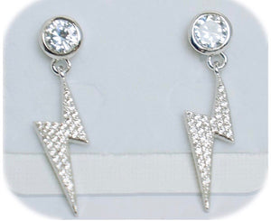 Lightning Bolt Diamanté Drop earrings