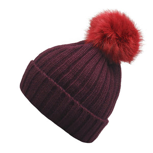 Classic Woolly Hat With Detachable Pom Pom
