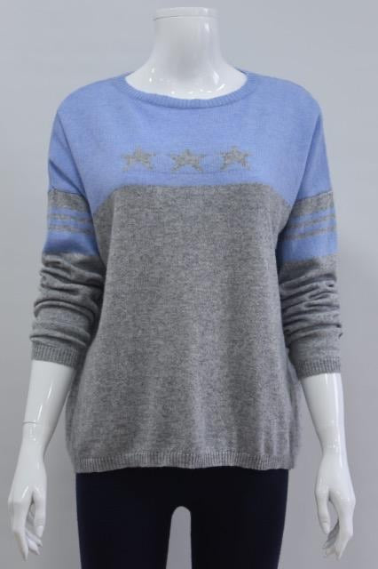 Sophie Star and Stripe Cashmere Mix Jumper