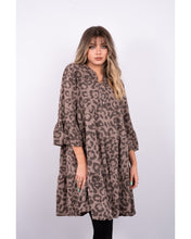 Load image into Gallery viewer, Nadine Leopard Print Tiered Dress