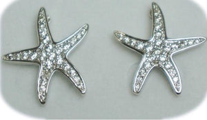 Silver toned Starfish Stud Earrings