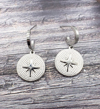 Load image into Gallery viewer, Esther Star Embellished Disc Earrings
