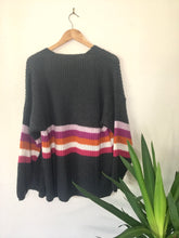Load image into Gallery viewer, Nellie Stripe Accent Wool Mix Cardi