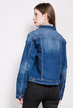 Load image into Gallery viewer, Jenni Classic Distressed Denim Jacket