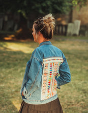 Load image into Gallery viewer, Cassie Boho Embellished Denim Jacket