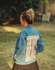 Cassie Boho Embellished Denim Jacket