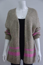 Load image into Gallery viewer, Gracie Chunky Mohair Mix Stripe Cardi