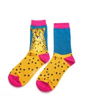 Load image into Gallery viewer, Wild Cheetah Bamboo Socks