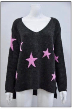 Viola Wool Mix Star Sweater