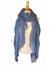 Load image into Gallery viewer, Frayed Edge Plain Viscose Scarf