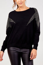 Load image into Gallery viewer, Irina Diamanté Star Sleeve Jumper