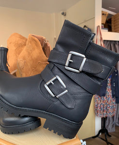Lara Buckled Biker Boot