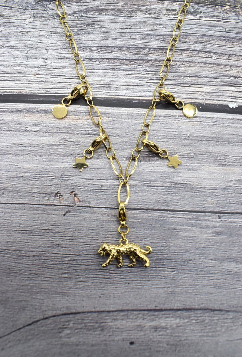 Tiger charm necklace from Tamarisk Online