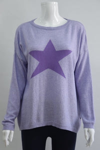 Sophie Cashmere/Merino Mix Star Sweater