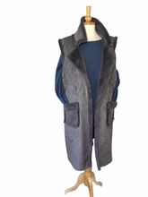 Load image into Gallery viewer, Nancy Faux Shearling Long Waistcoat/Gilet