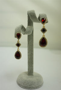 Rosanna Stained Glass And Crystal Drop Earrings