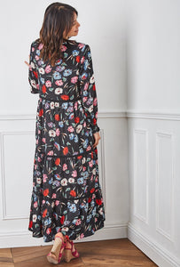 Samantha Floral Empire Line Maxi Dress